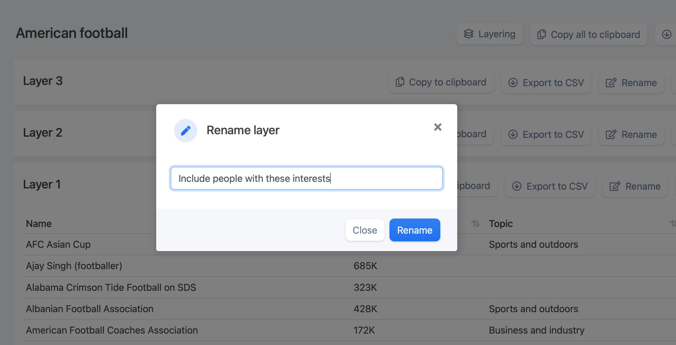 interestinsights rename layer